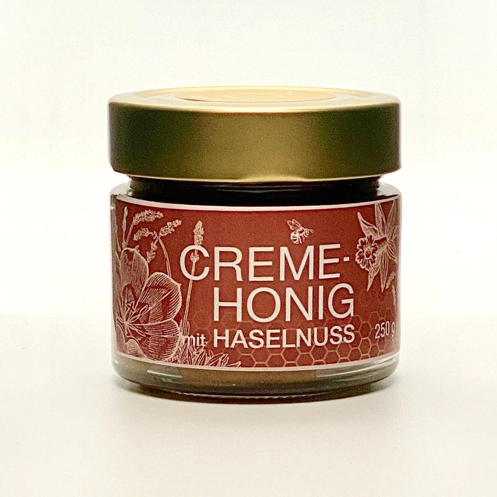 Creme Honig mit Haselnuss 250g